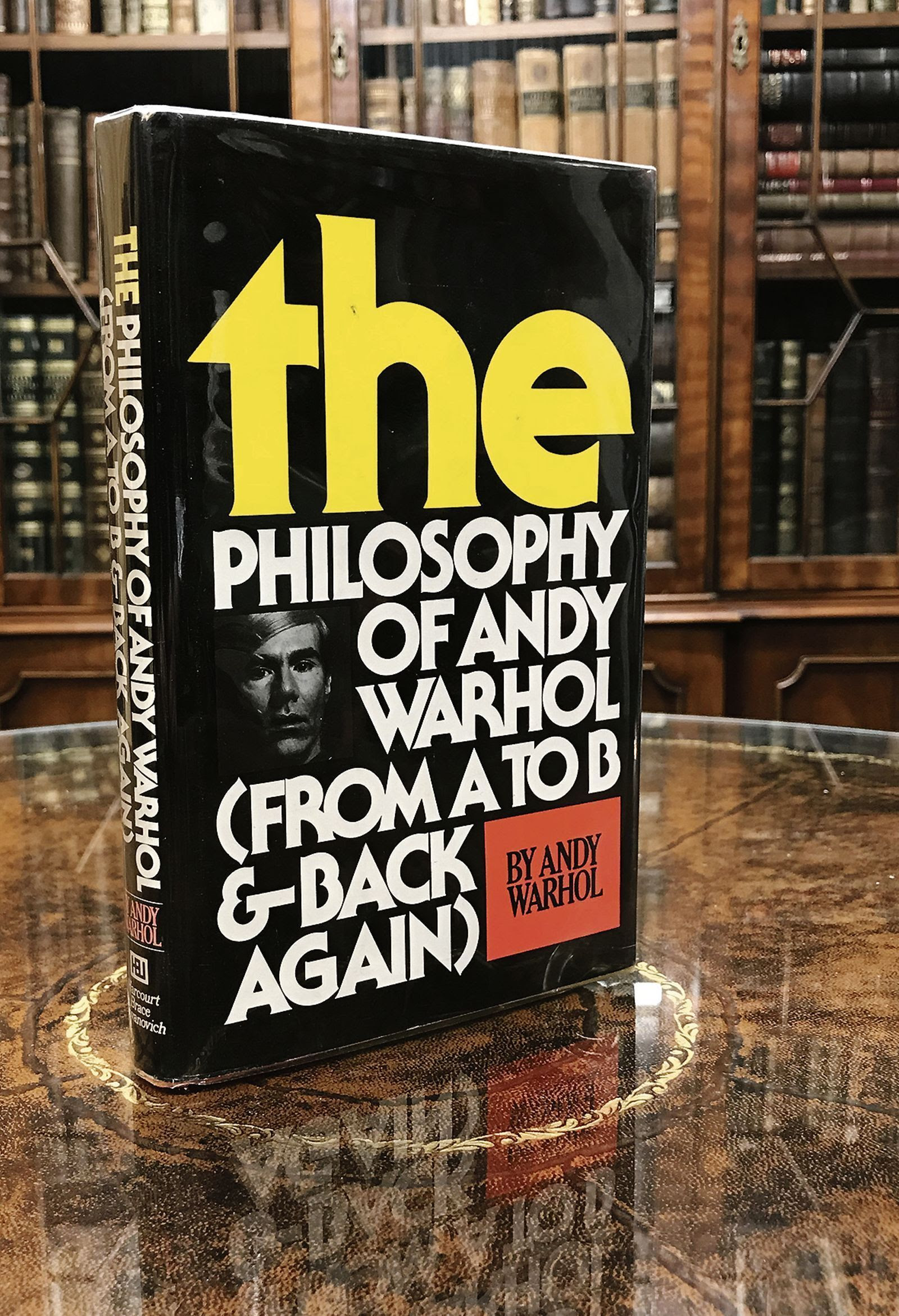 A signed copy of The Philosopy of Andy Warhol