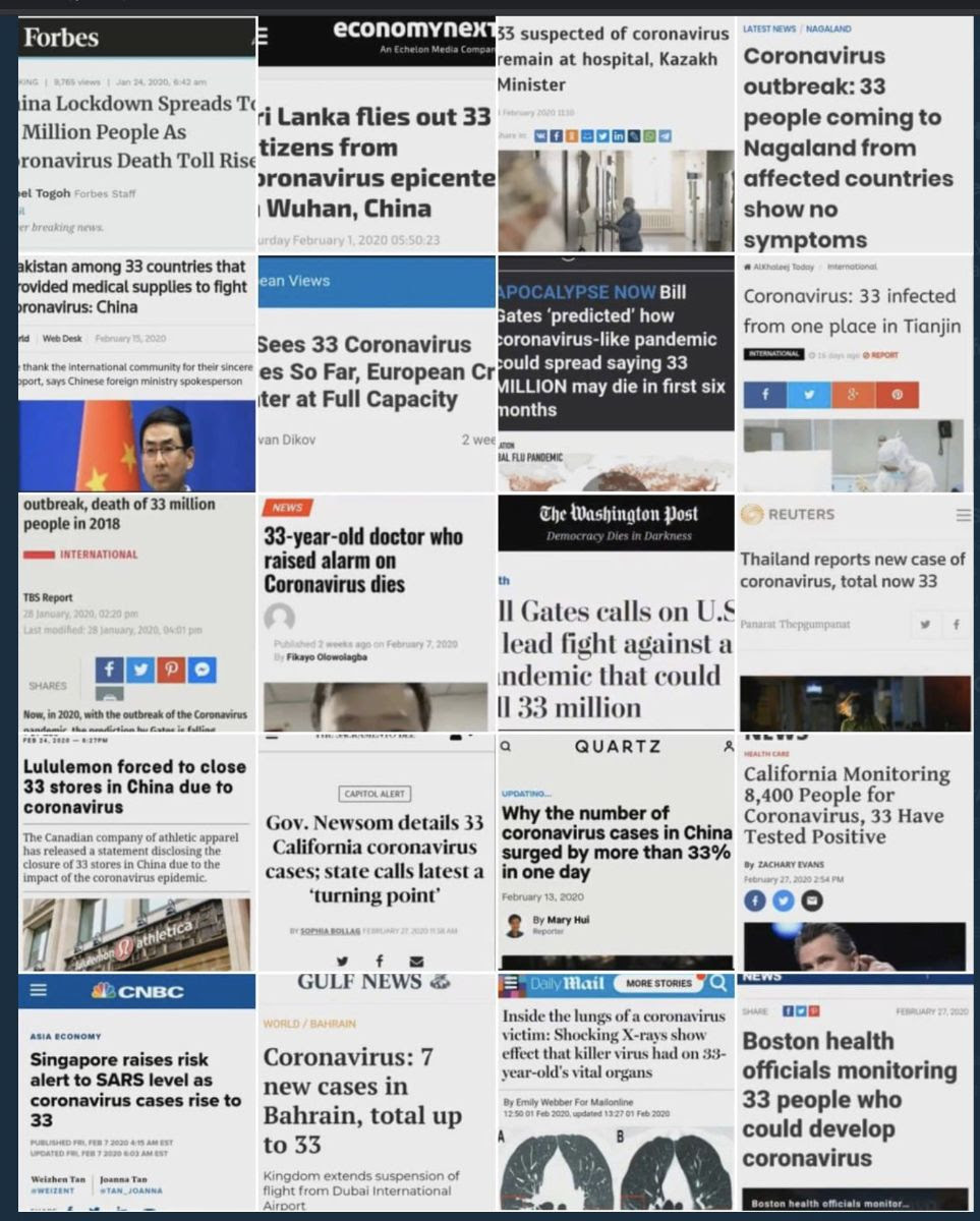 news articles using 33