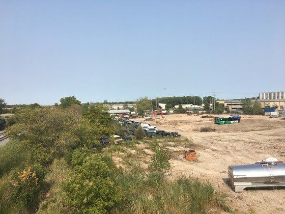 an empty brownfield site in Neenah WI
