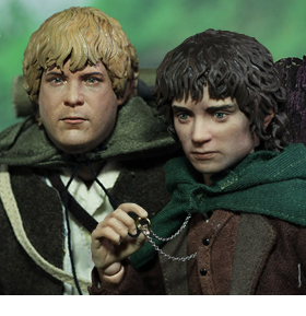 LORD OF THE RINGS 1/6 SCALE FRODO & SAMWISE FIGURES