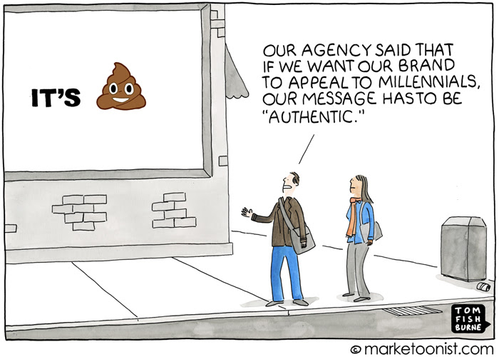 """Authentic Marketing"" cartoon"
