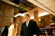 Rick Perry, a former governor of Texas, in the lobby of Trump Tower in New York on Monday.