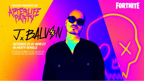 Fortnite Halloween evento J. Balvin