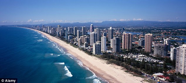 Australia scored 76.5 out of 90 based on nine well-being measures and reached number one in the world as the best country to live with beautiful places like the Gold Coast (pictured) to visit