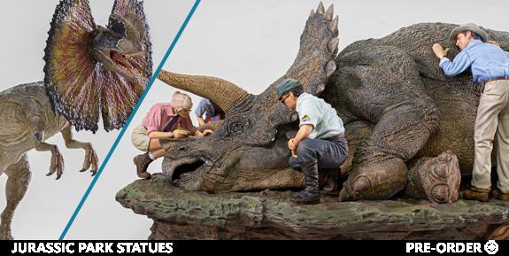 Jurassic Park Statues