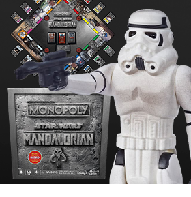 Monopoly: Star Wars: The Mandalorian with Exclusive Remnant Stormtrooper Figure