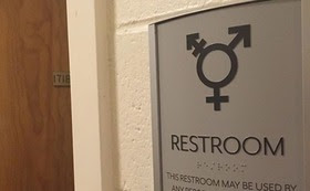 The transgender students in one Pittsburgh-area high school can use only single-stall restrooms, or ones that don't match their gender identity. (sarahmirk/Wikimedia Commons)