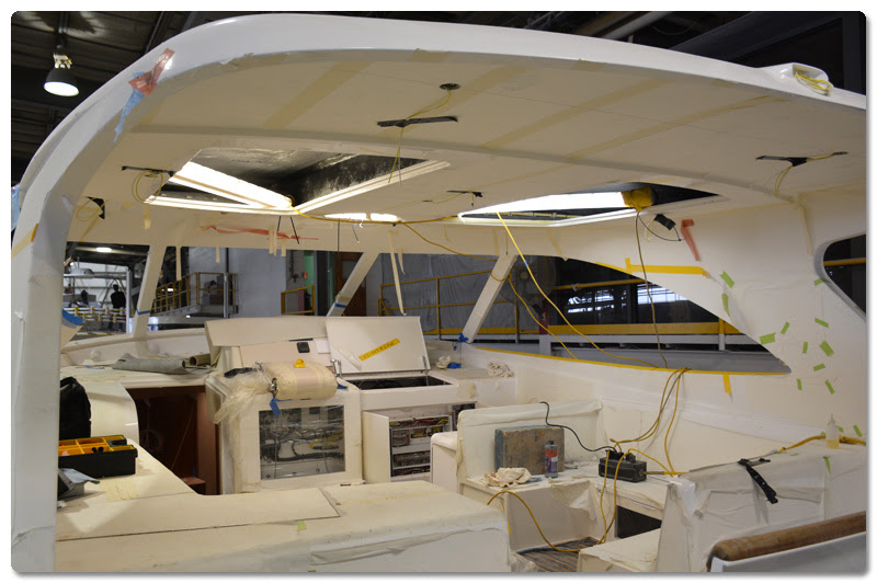 Rolling down the line at Viking Yachts