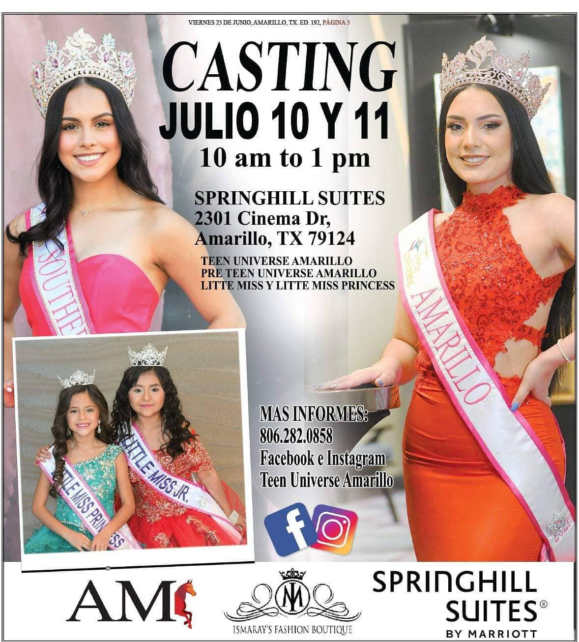 Teen Universe Castings @ Springhill Suites