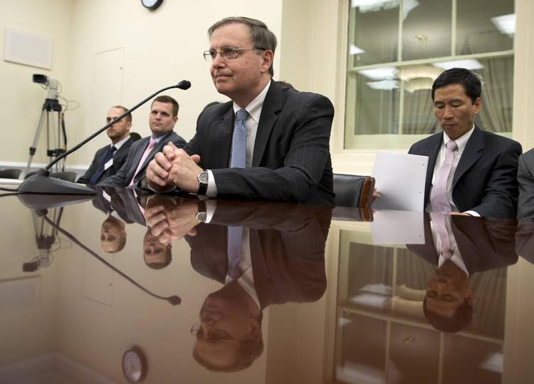 Acting DEA Administrator Chuck Rosenberg pauses before he testifies on Capitol Hill.(Alex Brandon/AP)