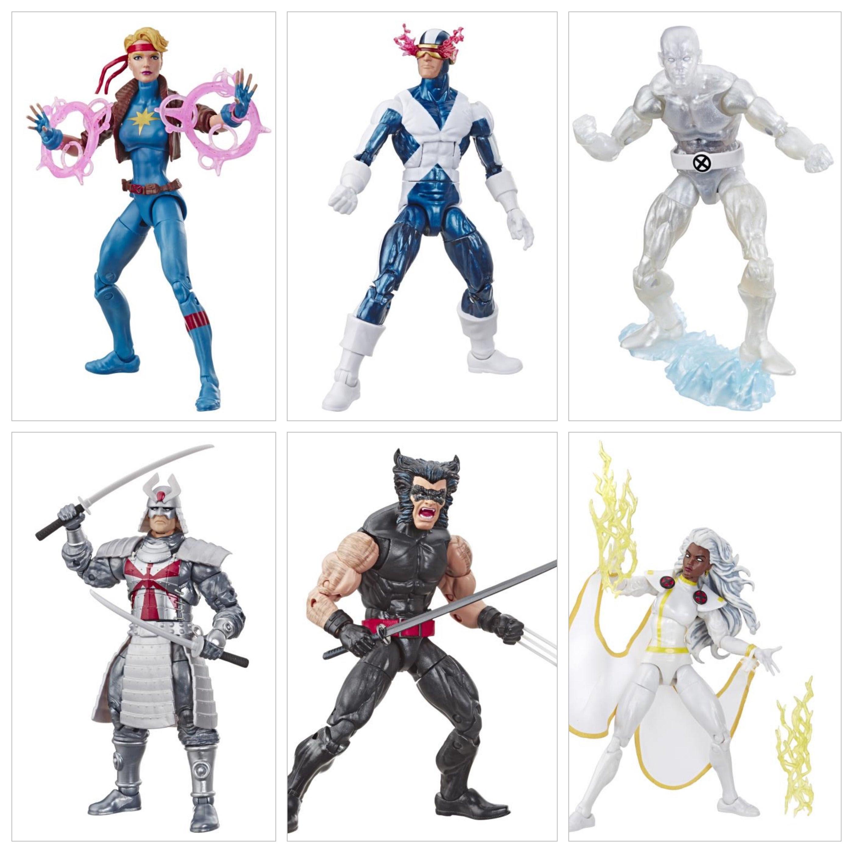 Image of X-Men Retro Marvel Legends 6-Inch Action Figures - Set of 6