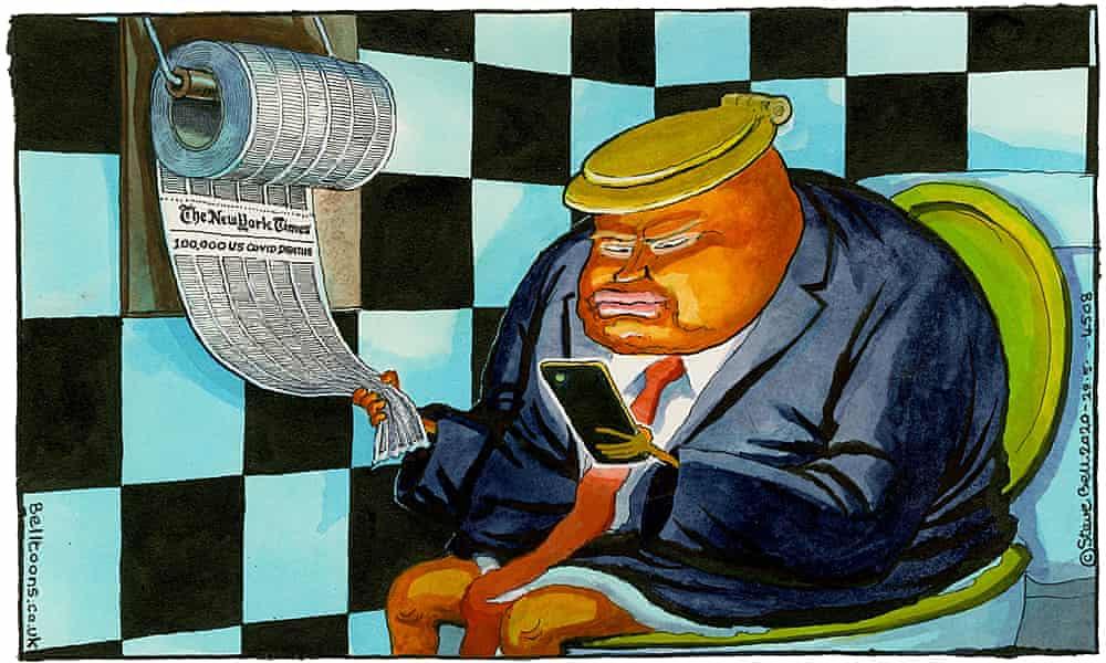 Steve Bell on Donald Trump's social media threat – cartoon