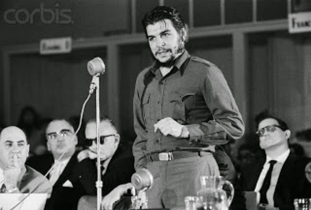 "Ernesto ""Che"" Guevara delivers his famous speech on Aug. 8, 1961 at the Inter-American Economic and Social Council in the Uruguayan city of Punta del Este. This was the last continental forum Cuba attended before being excluded until the Seventh Summit of the Americas, to be held Apr. 10-11 in Panama City. Credit: Public domain"