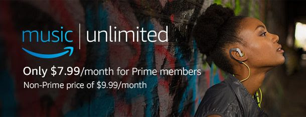 Amazon Music Unlimited. Only $7.99/month for Prime members. Non-Prime price of $9.99/month