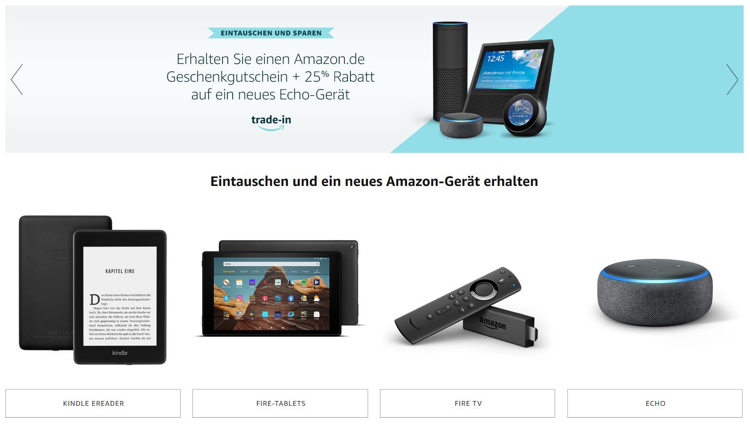 Trade-in: Alexa zurück schicken, Gutschein für Neukauf bekommen - Upgrades zum kleinen Preis! / Bild-Quelle: amazon.de
