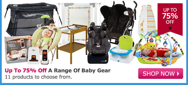 Save Up to 75% OFF Selected Baby Grea at DealsDirect.com.au