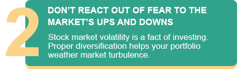 DON'T REACT OUT OF FEAR TO THE MARKET'S UPS AND DOWNS