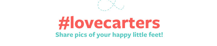 #lovecarters Share pics of your happy little feet!