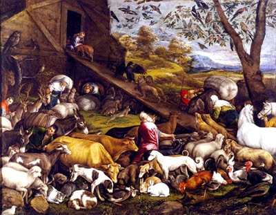 The                 Animals Entering Noah's Ark, by Jacopo Bassano