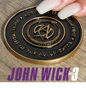 JOHN WICK 3 ADJUDICATOR MEDALLION LE REPLICA