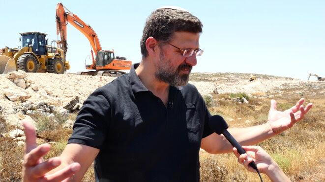 Avichai Boaron sur le chantier d'Amichai, le 26 juin 2017. © C. D.