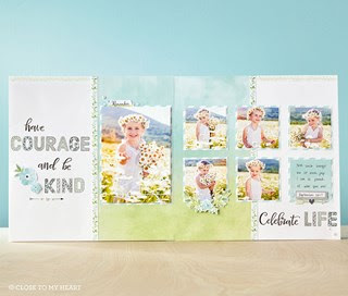 Innovative, creative, and always versatile-here's just one example of these stamps in use.