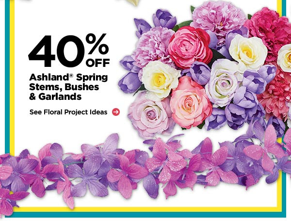 40% OFF Ashland® Spring Stems, Bushes & Garlands - See Floral Project Ideas