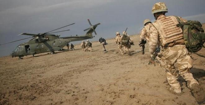 Soldados británicos en suelo iraquí.