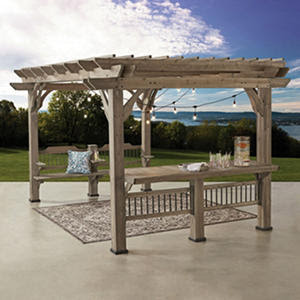 Backyard Discovery 14' x 10' Pergola with Electric Capabilities
