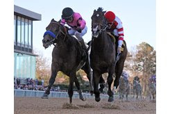 Game Winner (outside) and Omaha Beach rank first and fifth in this week's NTRA Top 3-Year-Old Poll