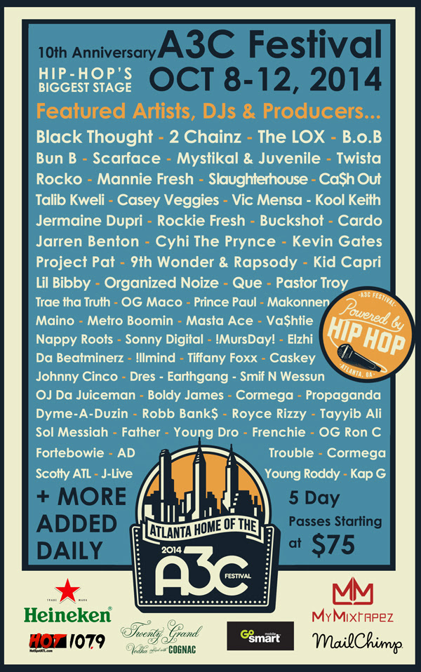 10annyA3Cposter-9-16-1 2014 A3C Festival Full Line-Up Unveiled