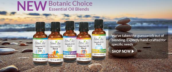 New Botanic Choice Essential Oil Blends