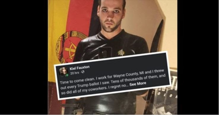 """Corrupt Dem Party Worker, Detroit Resident Brags On Facebook: """"I work for Wayne Co, MI and I threw out every Trump ballot I saw. Tens of thousands of them and so did all of my co-workers"""""""