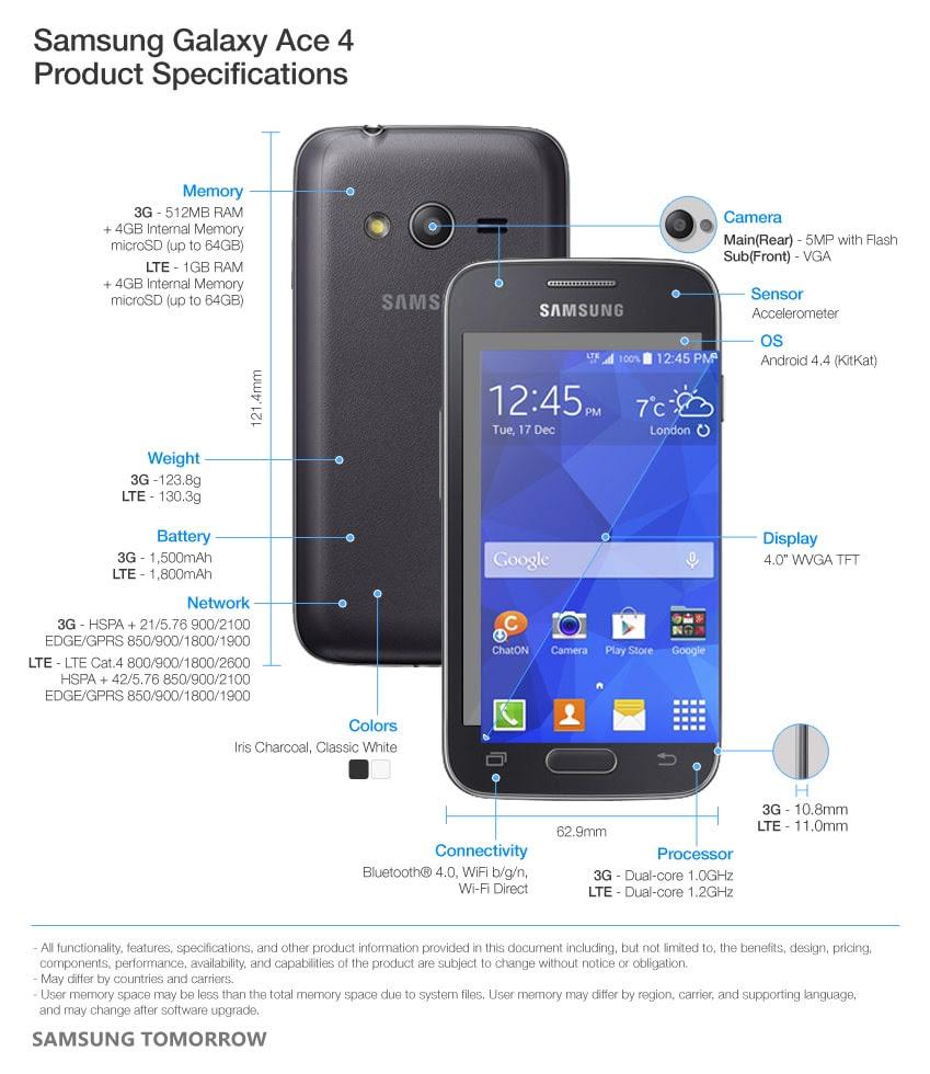 """""""جاالاكسي أيس 4"""" Galaxy Ace 4"""