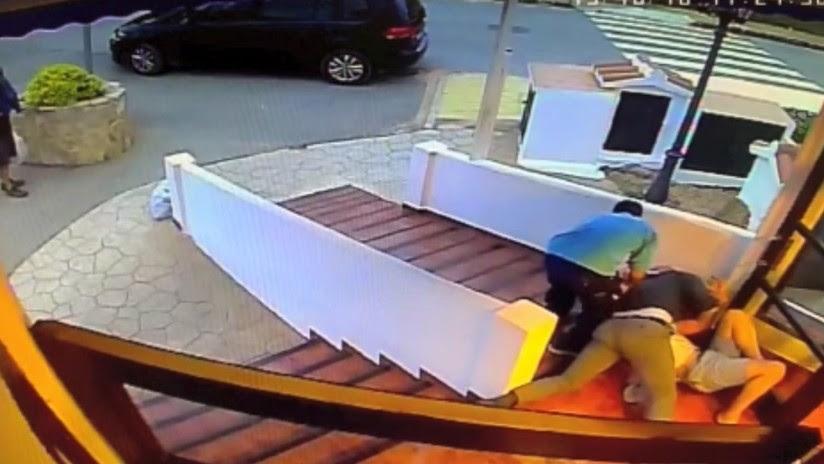 VIDEO: Un empresario argentino evita una agresión machista en un hotel de España