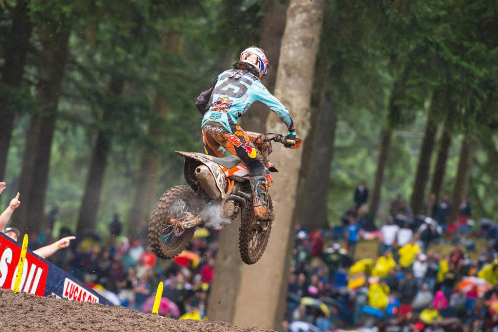 Musquin enjoyed a big day in the points race.Photo: Simon Cudby