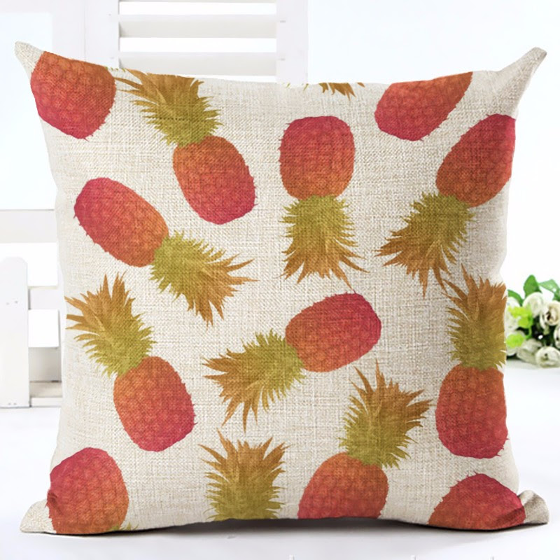 Orange Pineapple Print