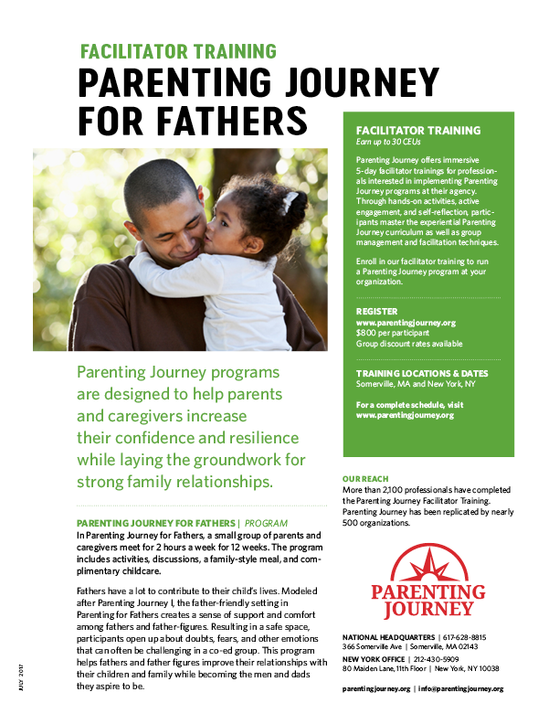 Parenting Journey Fathers flyer
