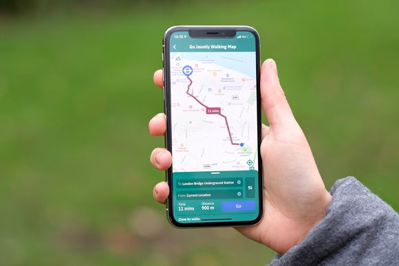 TfL Press Release - From map to app: TfL and Go Jauntly team up to bring the Walking Tube Map onto people's phones