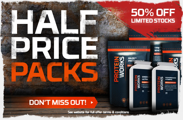 Save 50% OFF Selected Products Protein at TheProteinWorks.com