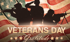 Happy Veterans DayNovember 11th