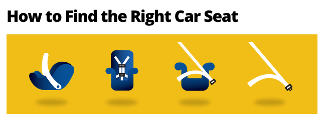 Find the right car seat for your child.
