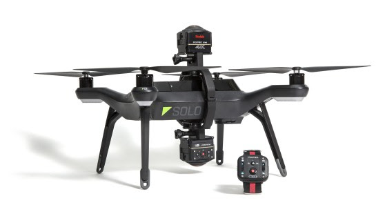 3DR-Solo-Drone-Quadcopter-and-360-Mount-for-the-Kodak-PIXPRO-SP360-4k