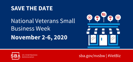 SAVE THE DATE: National Veterans Small Business Week 2020