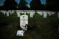 Capt. Humayun Khan's grave site at Arlington National Cemetery.