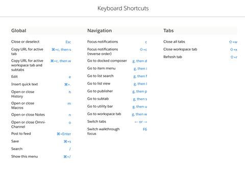 Console Shortcuts