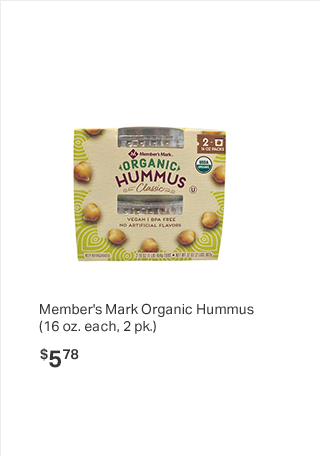 Member's Mark Organic Hummus (16 oz. each, 2 pk.)