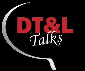 DT&L Talks speech bubble graphic