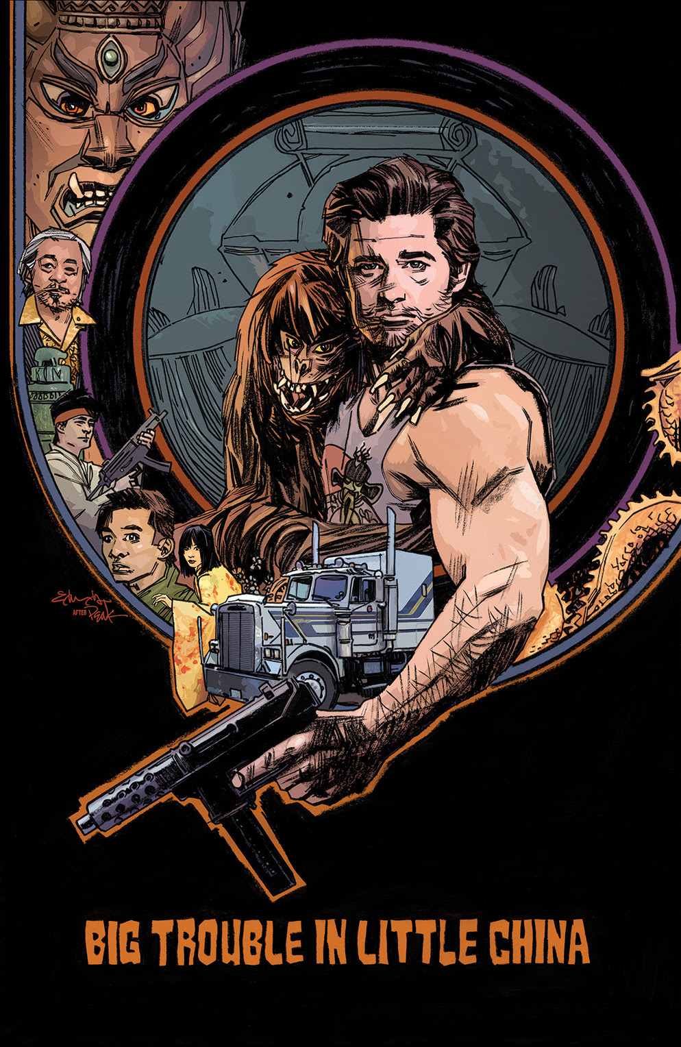 BIG TROUBLE IN LITTLE CHINA #3 Cover C by Tommy Lee Edwards