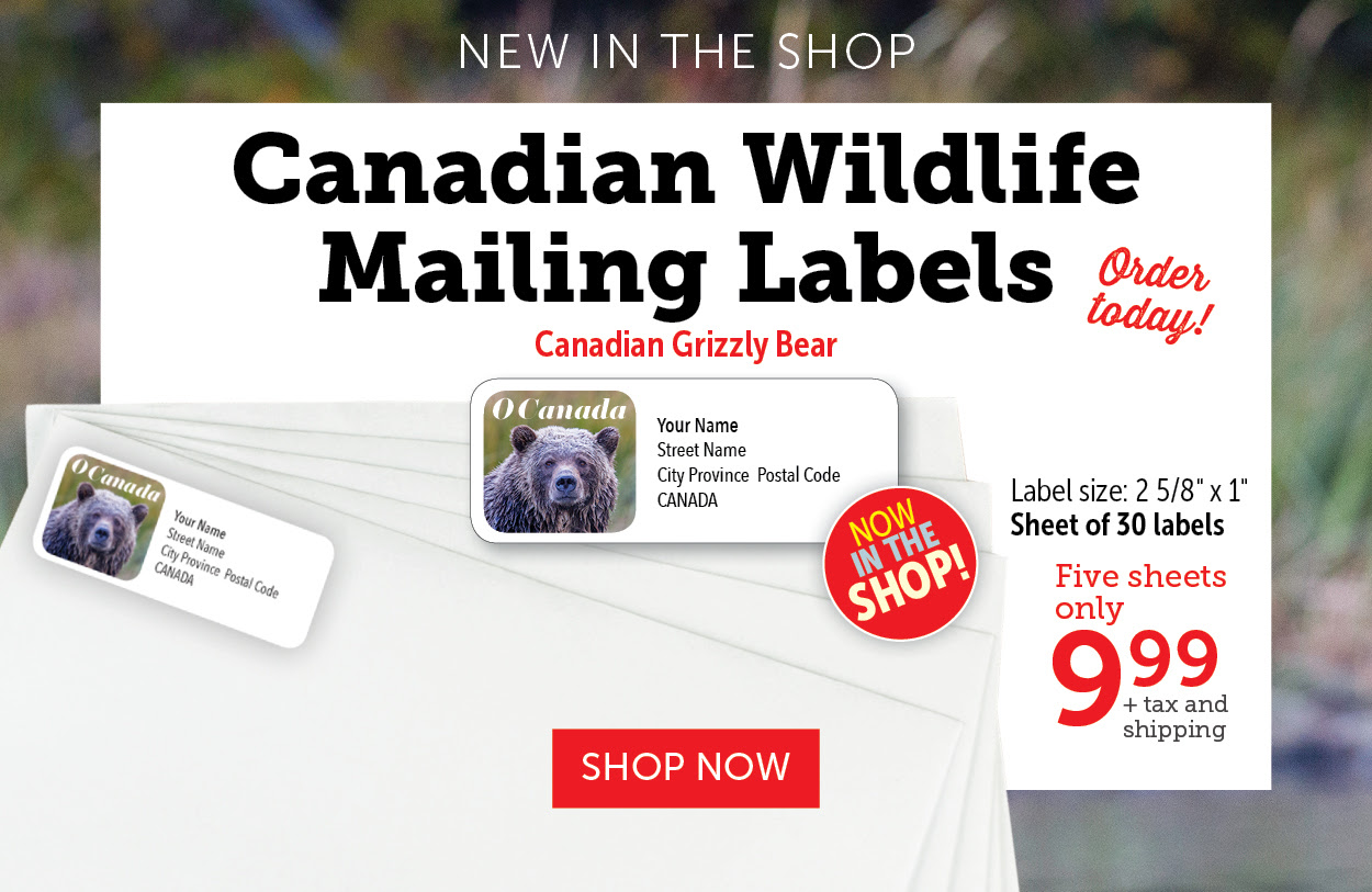 Canadian Wildlife Mailing Labels